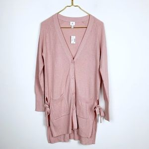 New Dusty Pink Long Tie Side Sweater Dressbarn